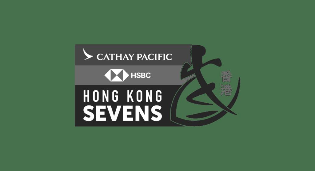Cathay Pacific HSBC Hong Kong Sevens Logo in Black & White